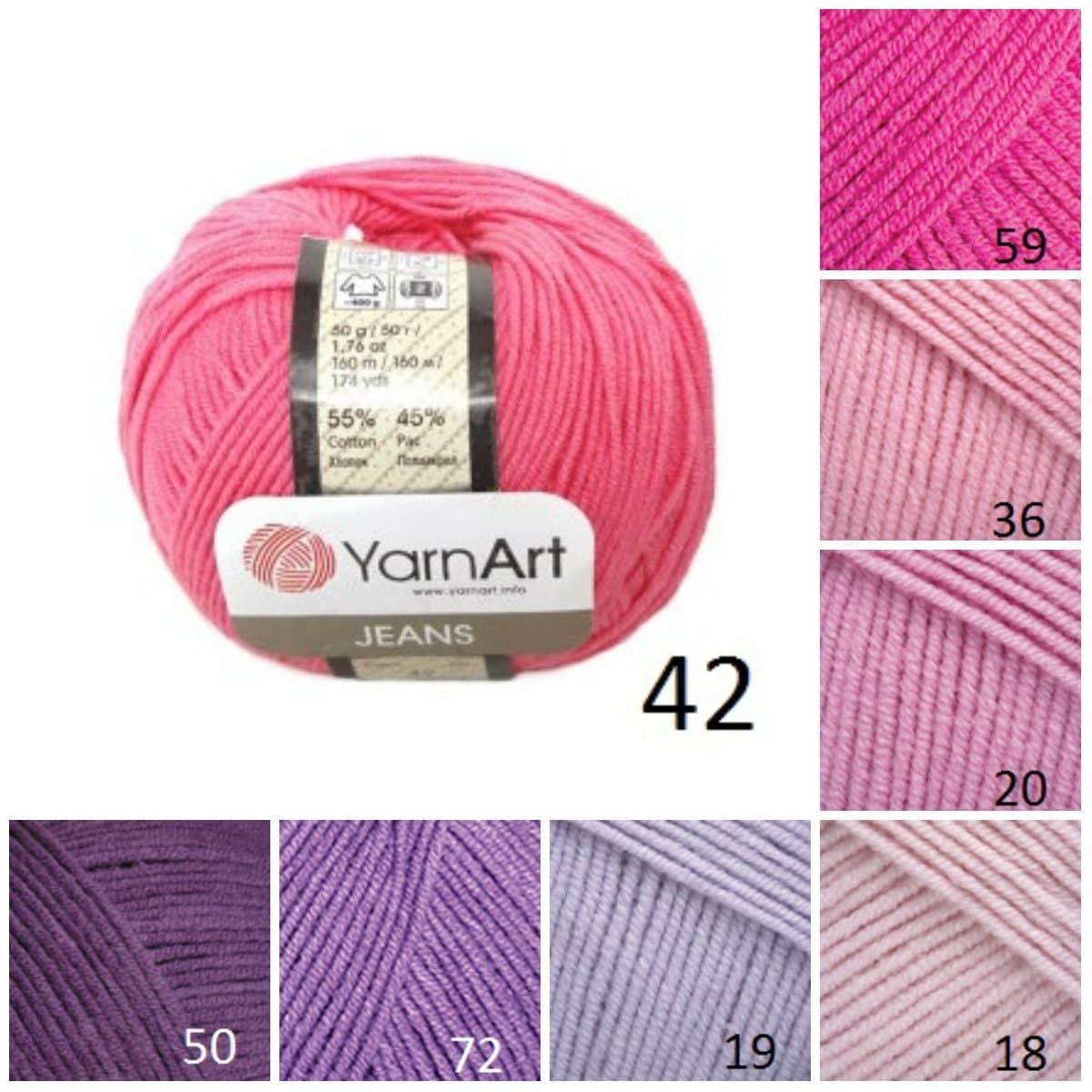 Knitting Pattern Suppliers : YarnArt JEANS, pink purple pattern yarn, cotton yarn, crochet cotton yarn, kn...
