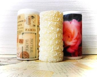 Unscented Decorative Pillar Candle