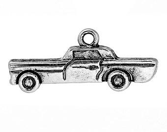 6 Car Charms, Antique Silver Tone (1L-250)