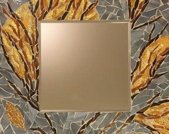 Sunrise: Glass Mosaic Wall Mirror