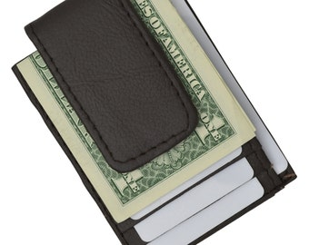 Handcrafted Magnetic Money Clip with ID and Credit Card Slots