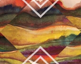 "Graphic Art Print - 8x8 - ""Tribal Chevron"""