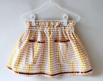 Polka Dots Skirt, Toddler Skirt, Skirt with Pockets, Girl Skirt,  Elastic Skirt, Spring Skirt, Summer Skirt, Baby Skirt
