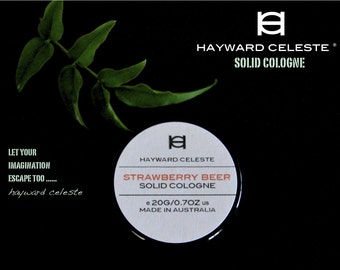 Hayward Celeste Strawberry Beer Solid Cologne