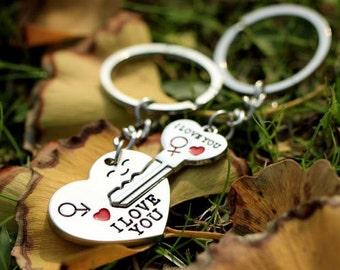 I love you keyring ~ wedding present ~ wedding gift ~ bridal party ~ bride groom present ~ wedding present ~