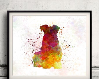Schnauzer 02 in watercolor INSTANT DOWNLOAD 8x10 inches Fine Art Print Poster Decor Home Watercolor - SKU 1516