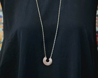 Brass semi circle necklace
