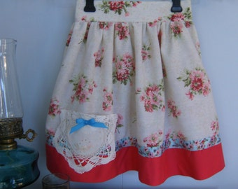 Girl's Size 6 Skirt, Upcycled Skirt size 6, Vintage size 6 Skirt