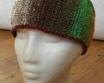 Hippie Boho Crochet Earwarmer with Buttons