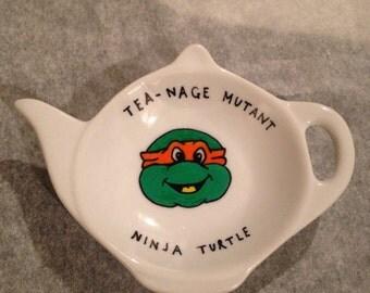 Teenage mutant ninja turtle tea bag tidy