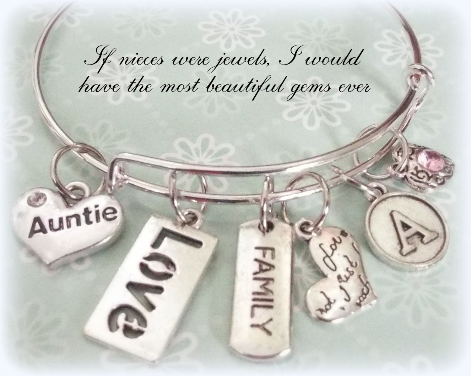 Gift for Aunt, Birthday for Aunt, Personalized Jewelry, Initial ...