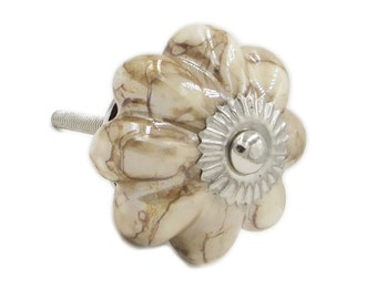 Decorative Marble Ceramic Knob, dresser knob, ceramic pull, drawer pull - M326