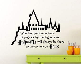 hogwarts wandtattoo etsy. Black Bedroom Furniture Sets. Home Design Ideas