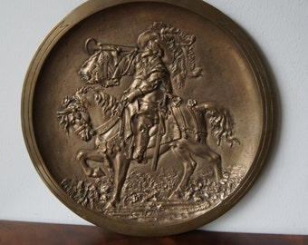 Antique Bronze Wall Plate 12''