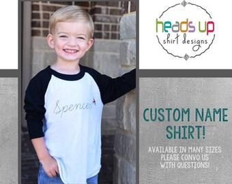 Custom Name Airplane Shirt - Personalized Airplane Raglan tshirt Toddler Boy/Girl - Baby Trendy Raglan Tee Plane - Gifts for Toddlers -