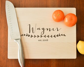 Personalized Cutting Board - Engraved Cutting Board, Custom Personalized Wedding Gift, Housewarming Gift, Anniversary Gift, Custom Cutting