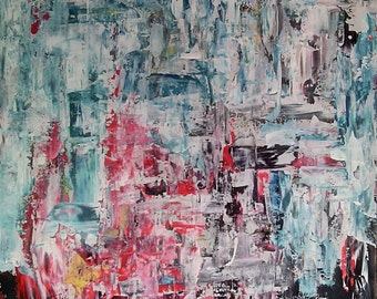 Original Abstract Painting: ''Impact''