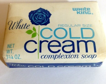 White King Vintage Cold Cream Complexion Soap White- never been opened