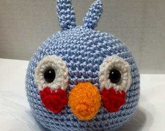 Crochet Angry Bird Blue 3, Amigurumi Angry Bird, Blue Angry Bird, Crochet Angry Bird