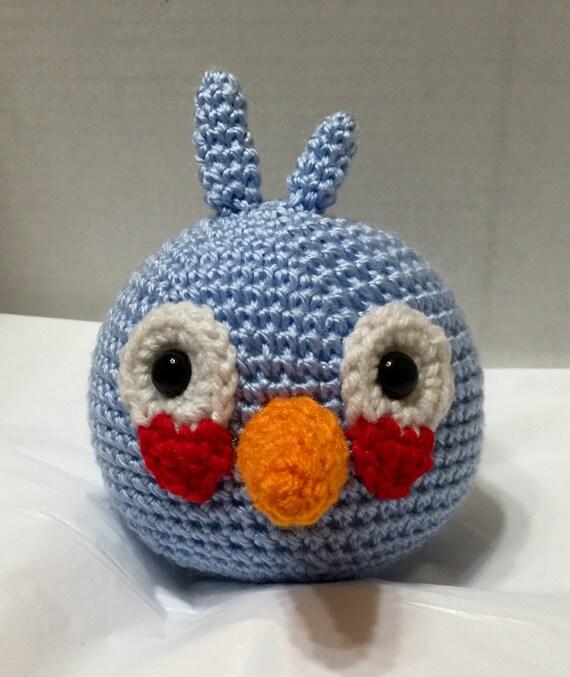 Blue Angry Bird Amigurumi Pattern : Crochet Angry Bird Blue 3 Amigurumi Angry Bird Blue Angry