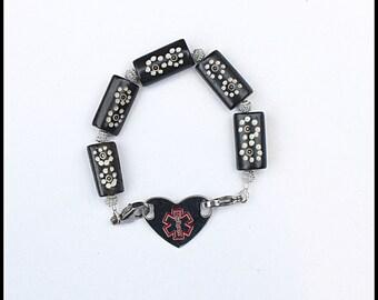 Medical ID Bracelet | Medical Alert Bracelet | Girls ID Bracelet | Allergy Bracelet | Alert Bracelet | Medical ID Tag | Custom Engraved