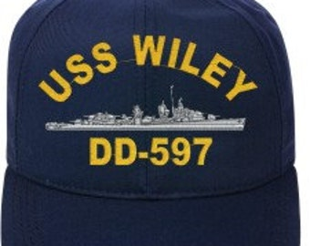 USS WILEY DD-597  Ball Cap   New Item