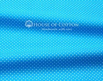 Aqua 2mm dots cotton fabric 0,5m