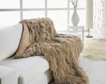 Authentic Tibetan Throw, Wool Throw, Premium Tibetan Wool, Luxurious Throw, Real Wool, Large Wool Throw - Mod Allure