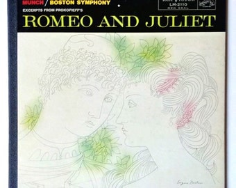 Romeo and Juliet Sergei Prokofiev Charles Munch Boston Symphony Orchestra Excerpts of Prokofieff's Ballet RCA Plum Label Shaded Dog LM 2110