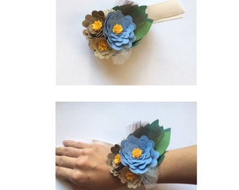 Corsage  Flowers paper by craftmenina