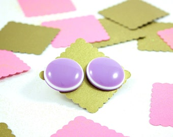 Vintage 80s Retro Purple Stud Earrings