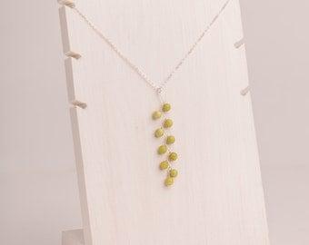 Peridot Zig-Zag Necklace