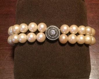 Double Strand Pearl Bracelet