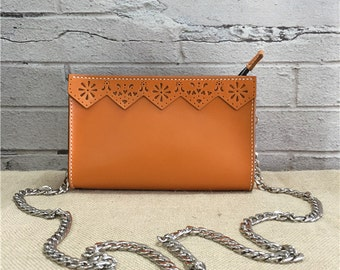 Completely Hand Made Leathe crossbody bag