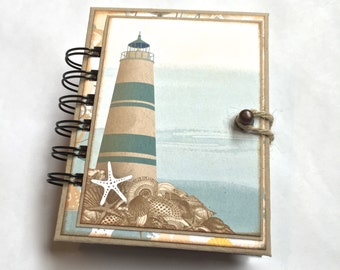 Nautical and/or Beach Themed Spiral Bound Mini Album