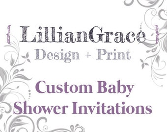 Custom Baby Shower Invitation, Design + Print, Customizable, 148x148mm
