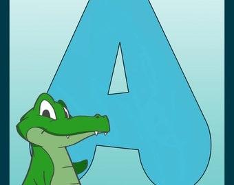 Children's alphabet initials