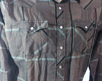 AUTHENTIC Vintage Youngbloods Mens Size Large Pearl Snap WESTERN SHIRT