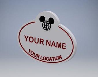Customized Walt Disney World Replica Name Tag