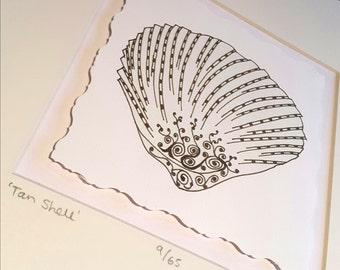 Tan Shell Illustration - Limited Edition