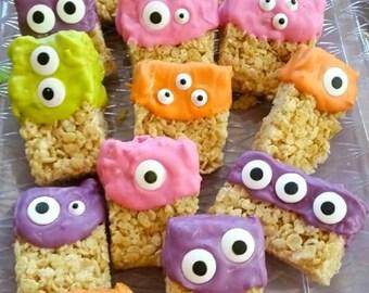 Rice Krispie Treats, Kids Treats, Kids Party Food, Novelty Sweets, Rice Krispie Treat, Party Favors, Monster Party Favors