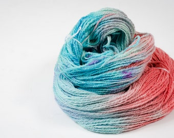"""438 Yards Hand Spun and Hand Dyed 100% Wool Yarn in """"Lainie"""" colorway"""