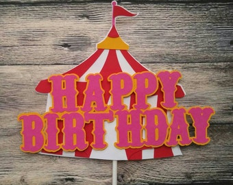 Circus Cake Topper, Smash Cake Topper, Circus Birthday Decorations, Carnival Cake Topper,   Circus Photo Prop, Carnival Centerpiece