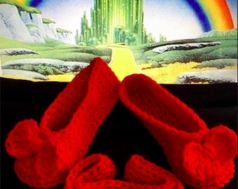 Ruby red slippers with matching headband (wizard of oz inspired ) Photo prop