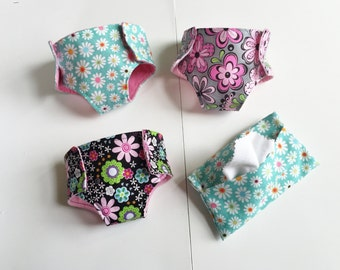 Play Diaper, Big Brother Sister Gift, Doll Diapers and Wipe, Sibling Gift, Gifts under 20, Baby Doll Diaper, Baby Dolls