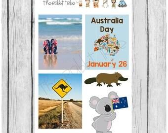 Mini Sticker sheet - australia day - planner stickers