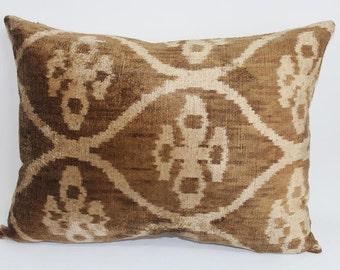 Ikat Pillow Case -  14'' x 19'' Decorative Pillows For Couch Sofa Pillows Lumbar Pillow Decorative Cushion Modern Pillow Cover