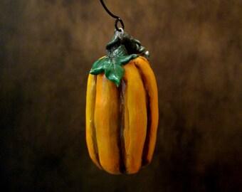 Rustic Pumpkin Handmade Ornament