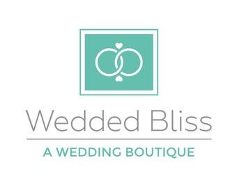 Wedded Bliss Logo Template | Custom Logo Design | Premade Logo