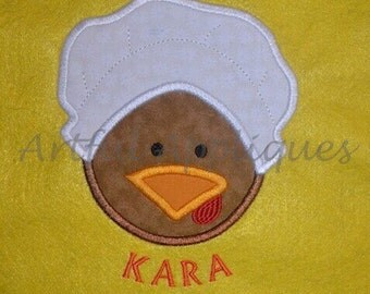 Pilgrim Girl Turkey Applique Design